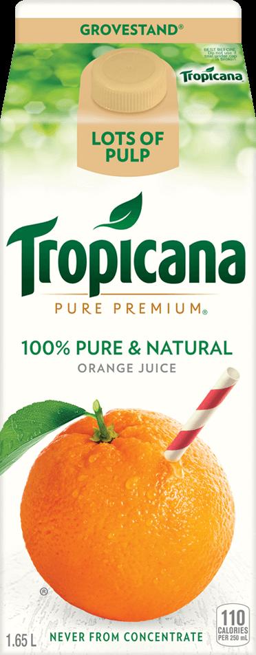 Tropicana Pure Premium® Grovestand®