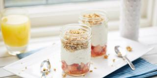 Orange and Strawberry Granola Parfaits
