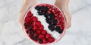 Cran-Raspberry Smoothie Bowl
