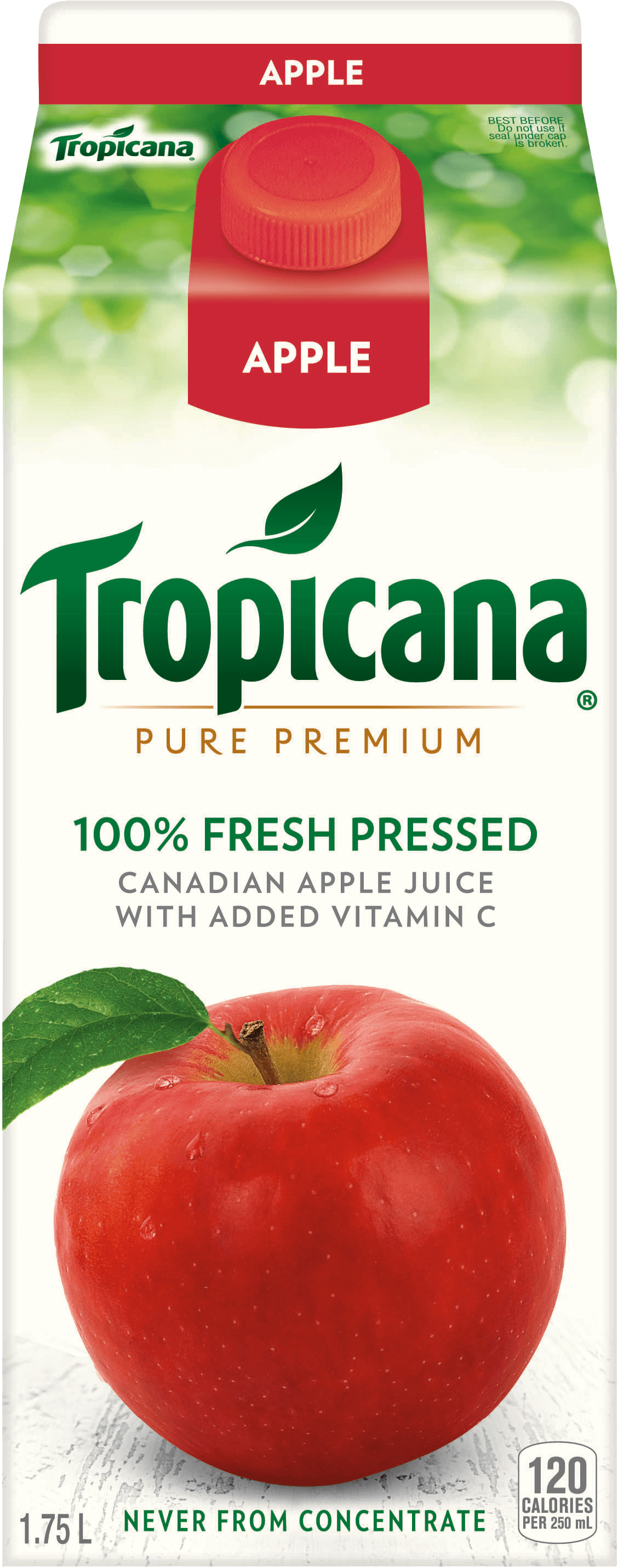 Tropicana® 100 % Fresh Pressed Apple Juice with Added Vitamin C