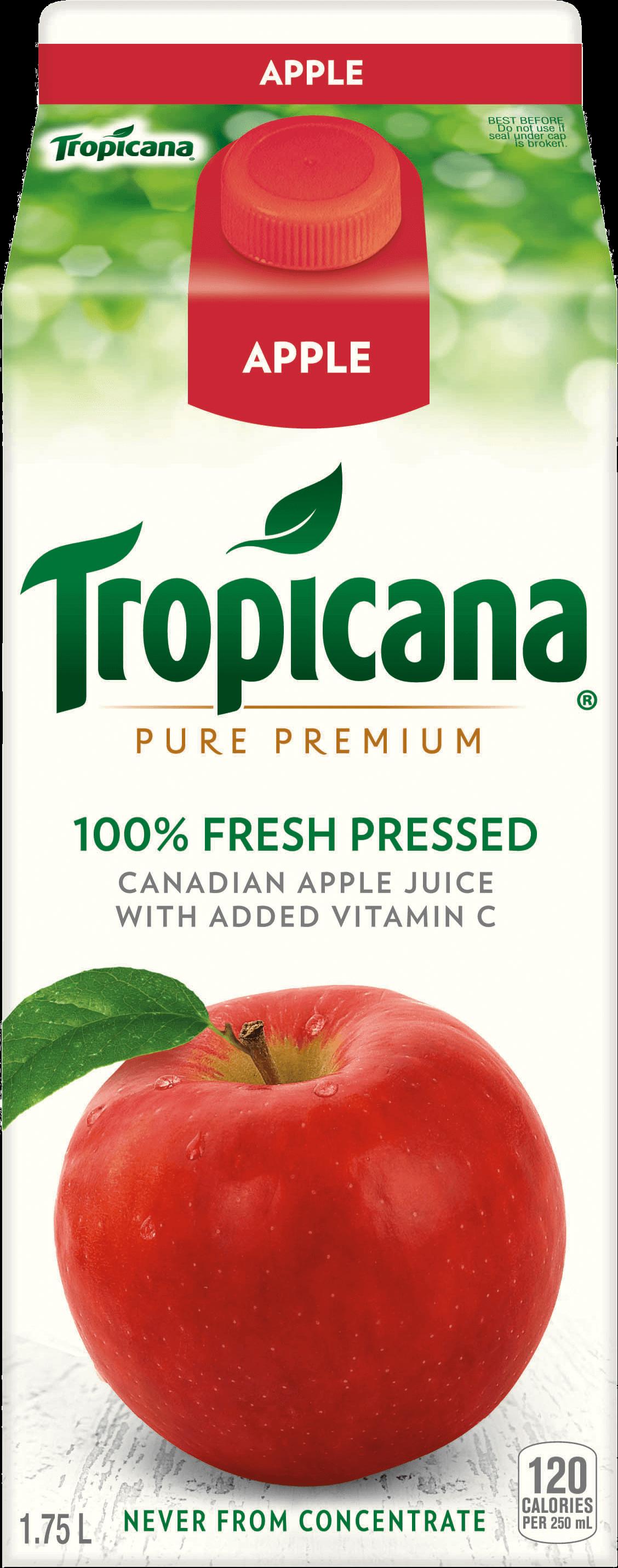 Tropicana® 100 % Fresh Pressed Apple Juice with Added Vitamin C