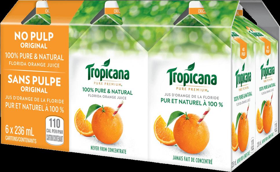 Tropicana 100 % Pure Orange Juice - No Pulp