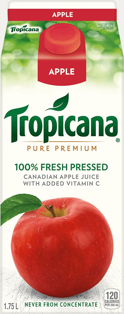 Jus Tropicana À 100 % Jus De Pomme Fraîchement Pressé Additionné De Vitamine C