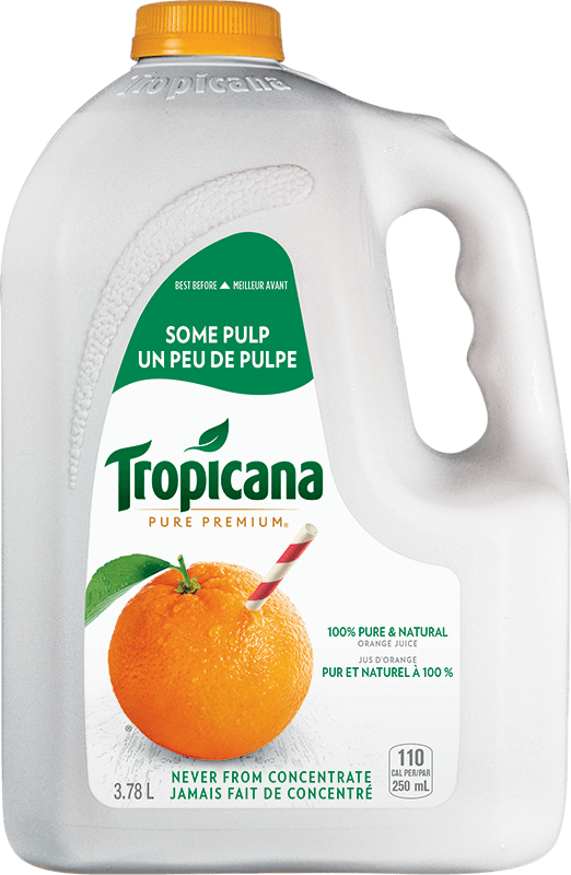 Tropicana® 100 % Pure Orange Juice - Some Pulp