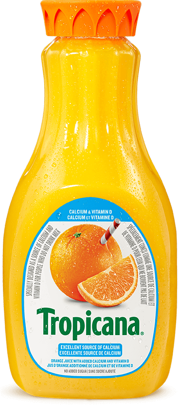 Tropicana® 100 % Pure Orange Juice with added Calcium & Vitamin D