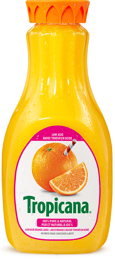 Tropicana® 100 % Pure Orange Juice Low Acid