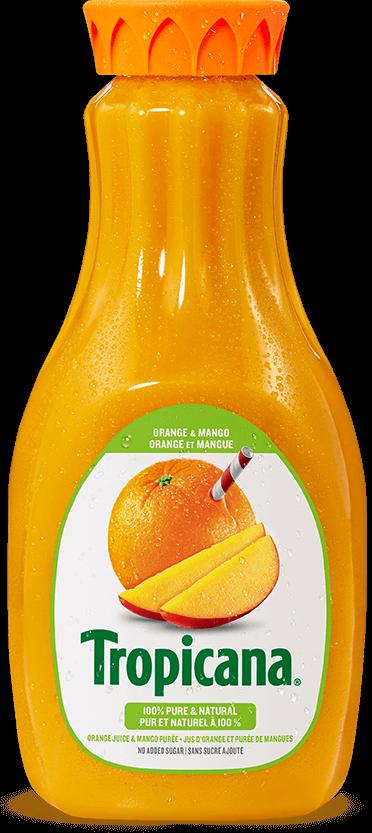 Jus Tropicana® Pur À 100 %  Jus D'orange Et Purée De Mangue
