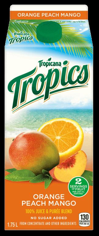 Tropicana® Tropics® - Orange Peach Mango