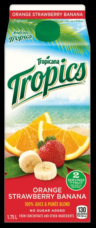 Tropicana® Tropics® - Orange Strawberry Banana